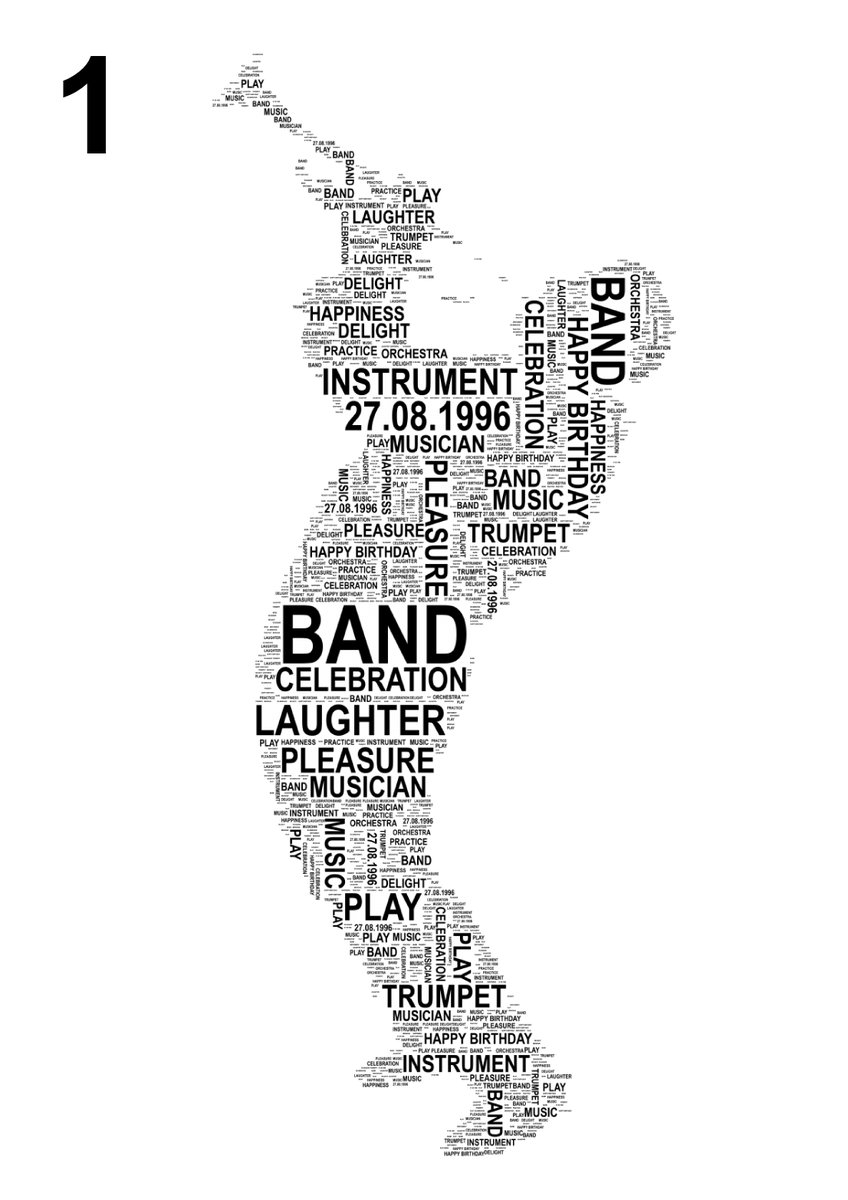 Trumpet Player Personalised Word Art Print https://t.co/IoGtcS608E #Qu...