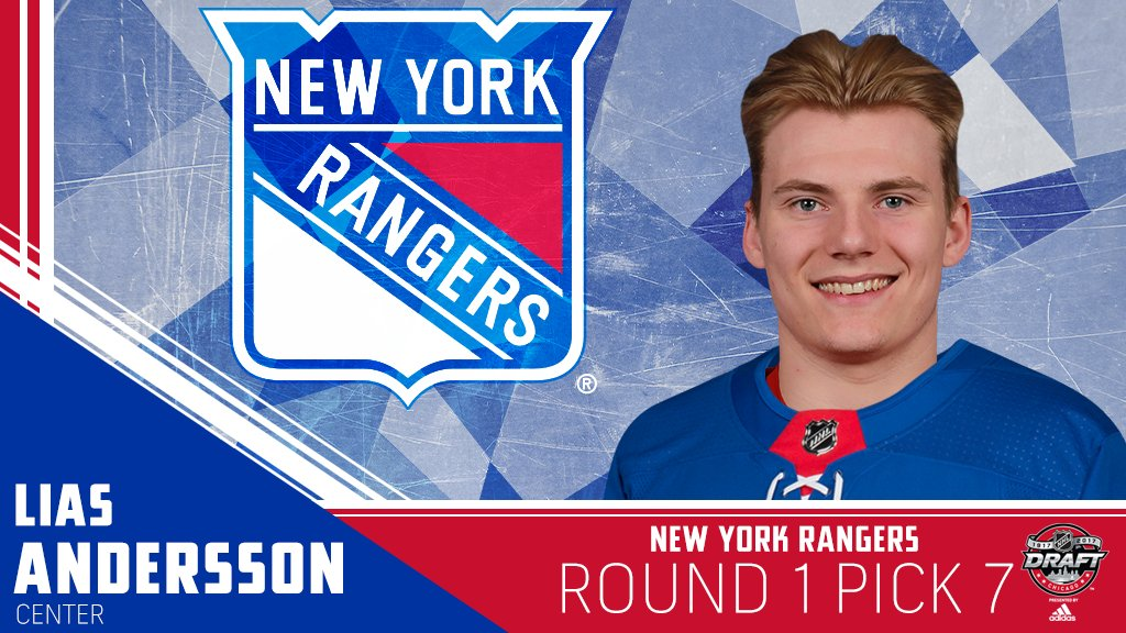 Lucky No. 7 for Lias Andersson and the @NYRangers. #NHLDraft https://t...