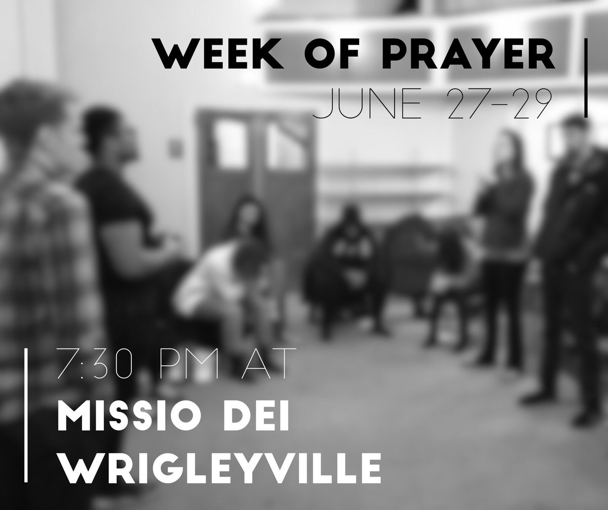 Join us next week June 27th thru 29th for prayer and fasting! We will...