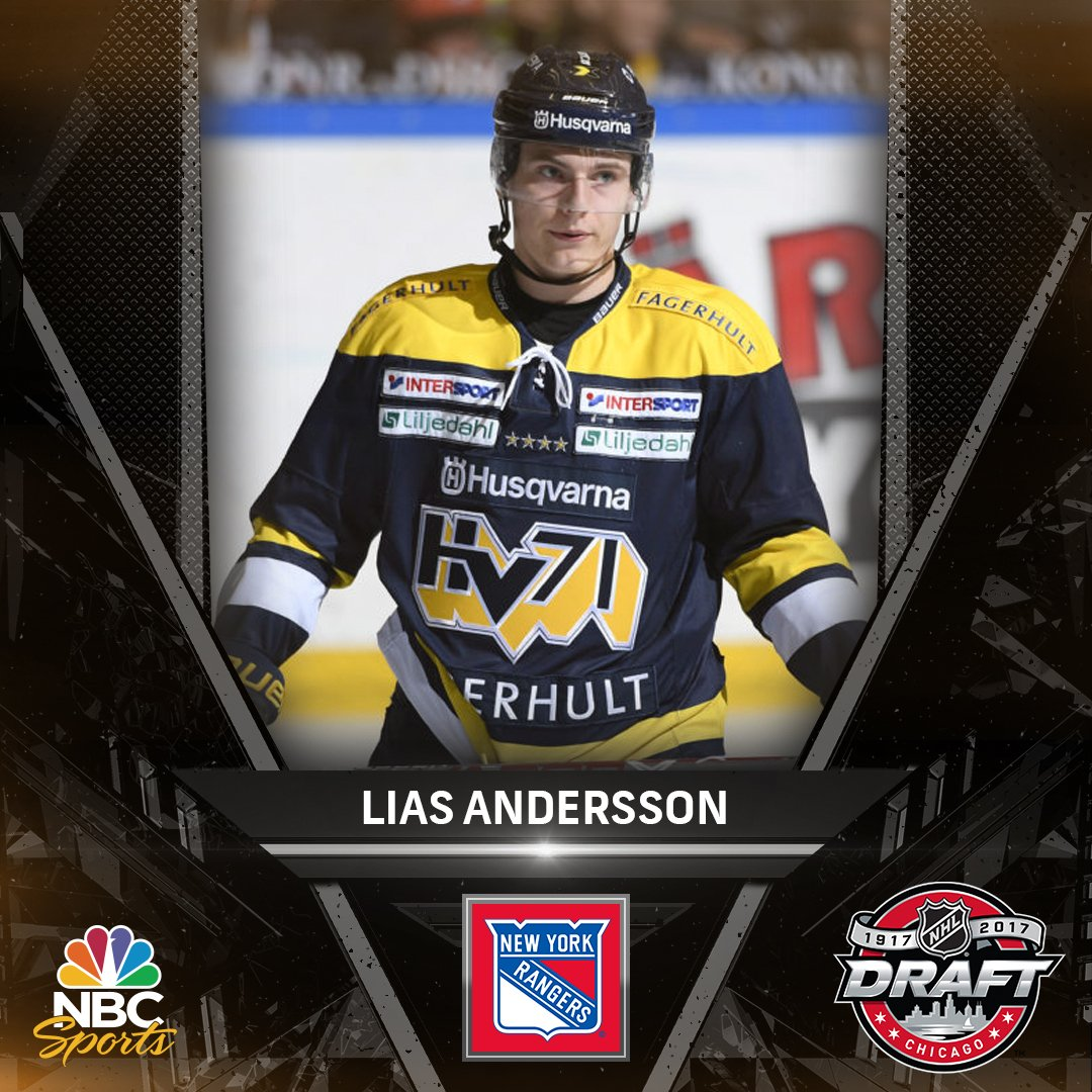 Welcome to New York, Lias Andersson! #NHLDraft https://t.co/zBqPeAtG4d