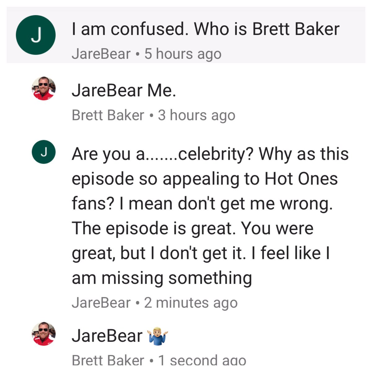 This is my favorite @youtube exchange so far. #HotOnes https://t.co/aw...