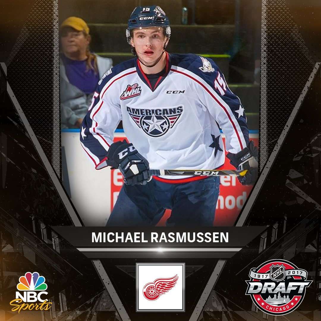 Michael Rasmussen has been selected ninth overall by the @DetroitRedWi...