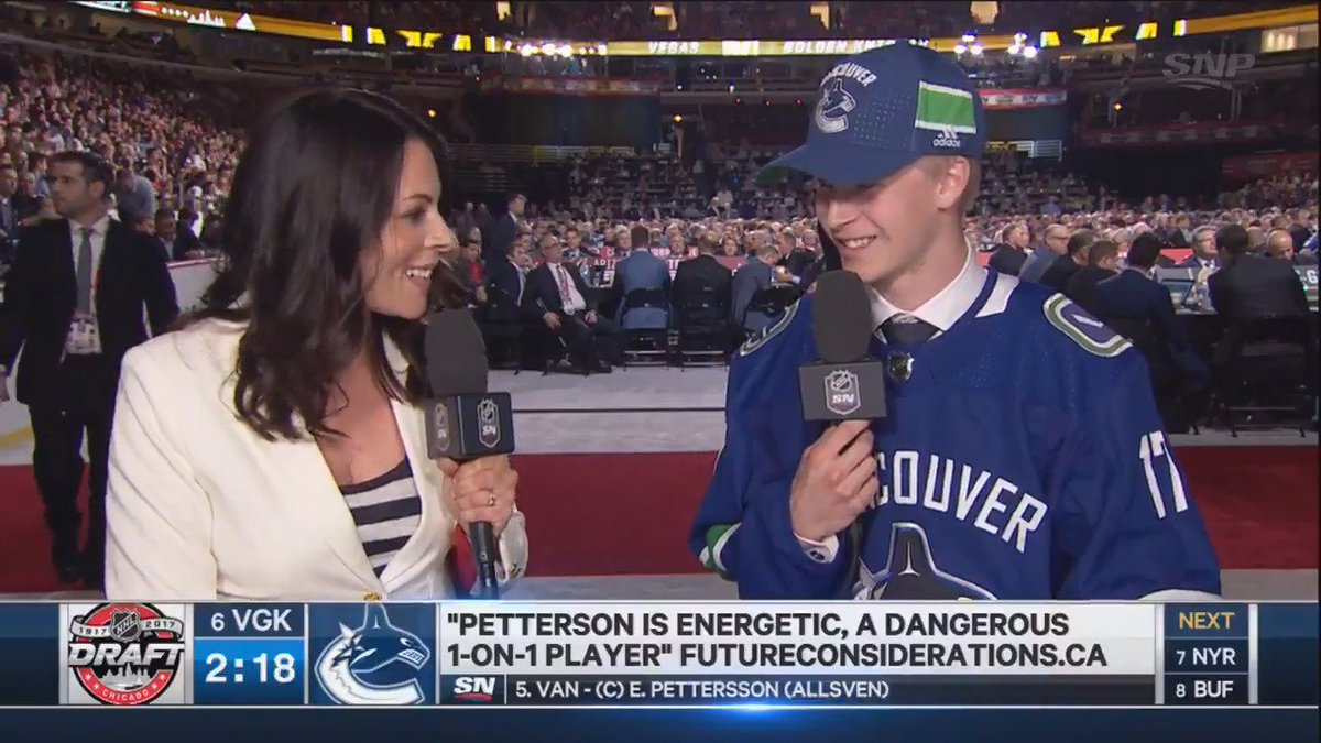 'It was a special moment' - @_EPettersson reflects on being drafted by...