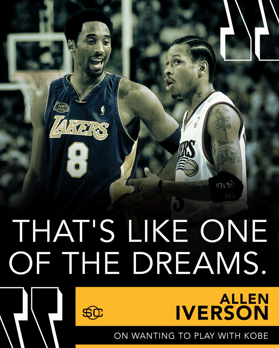 If Allen Iverson could play with one player in the BIG3, he says: Kobe...