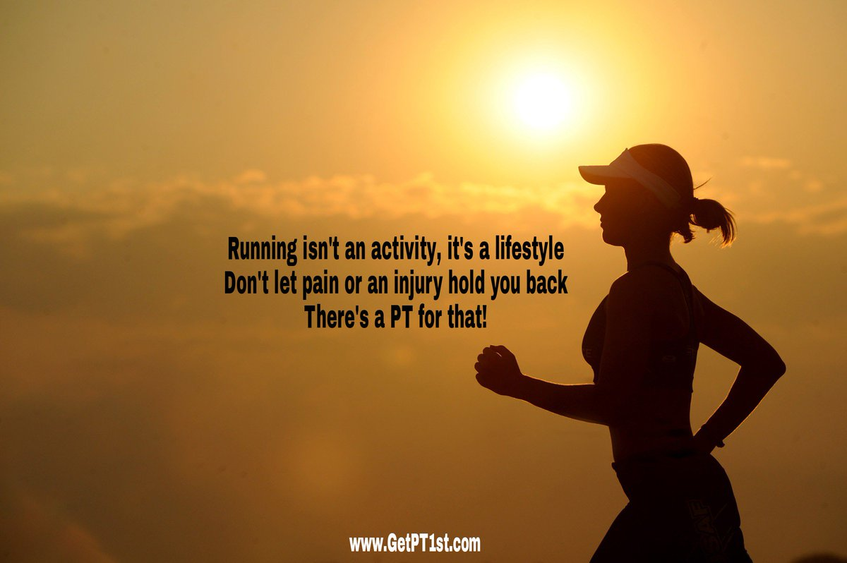 Are you a #runner? If so you know it&#39;s not just an activity, it&#39;s a lifestyle. A PT can help keep you going if you get injured. #running <br>http://pic.twitter.com/yLDs35hFK4