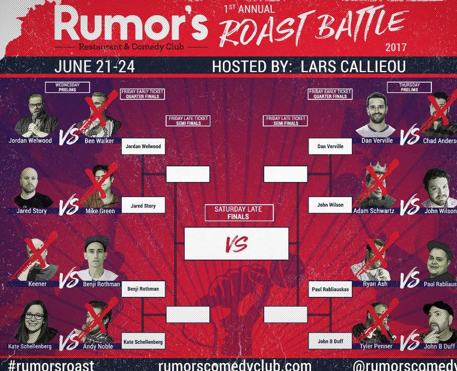 Tonight the Roast Battle continues at @RumorsComedy. So far it has been hilarious and vicious. #comedy #winnipeg<br>http://pic.twitter.com/zzIbHUKcXj