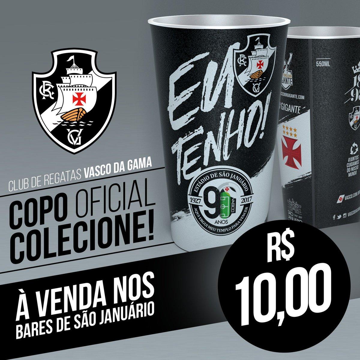 O copo comemorativo dos 90 anos de São Januário estará à venda nos bares no domingo!