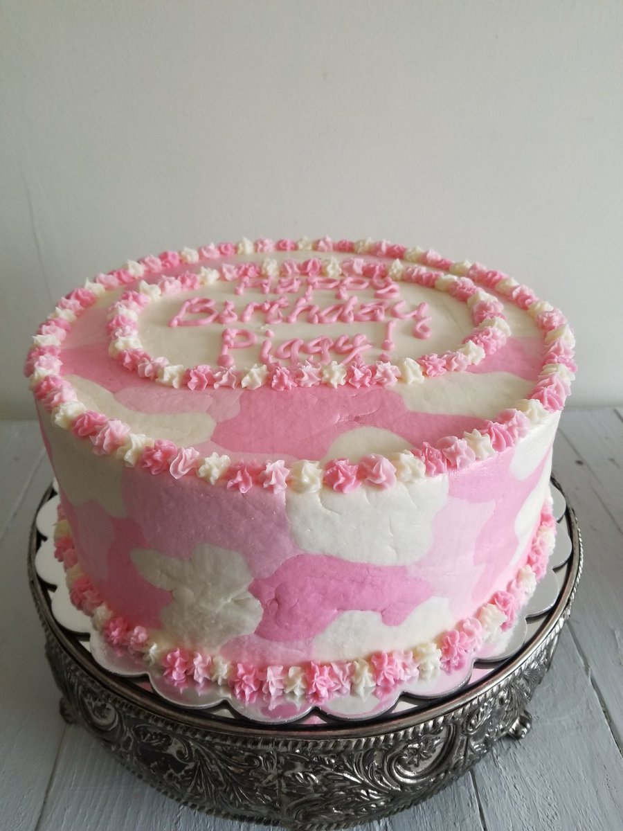 Terrific Winderlicious Cakes On Twitter Simple Pink Camo Birthday Cake Personalised Birthday Cards Paralily Jamesorg