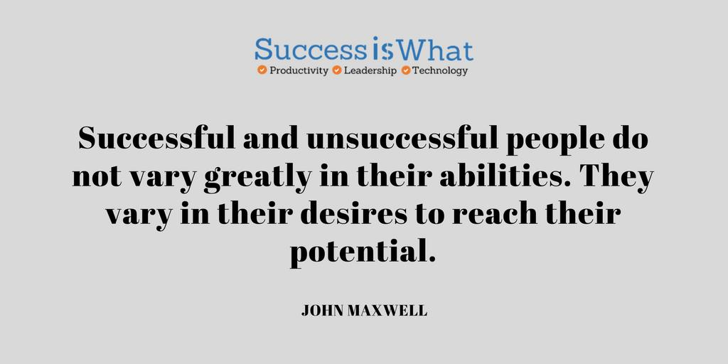 """Successful and unsuccessful people do not vary greatly in their abilities. They vary in their desires to reach their potential.&quot;  #sucess <br>http://pic.twitter.com/5UrA1SlZUj"
