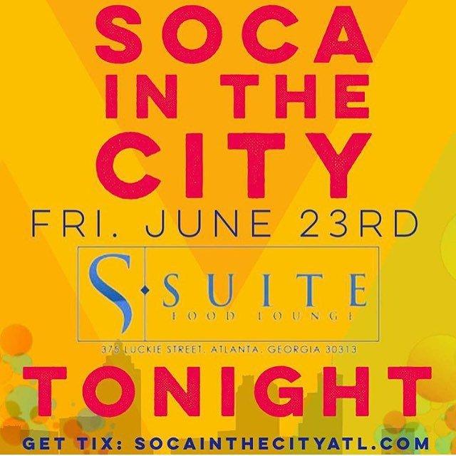 #tonightinatlanta SOCA IN CITY #suiteloungeatl #soca #atlanta #atllife...