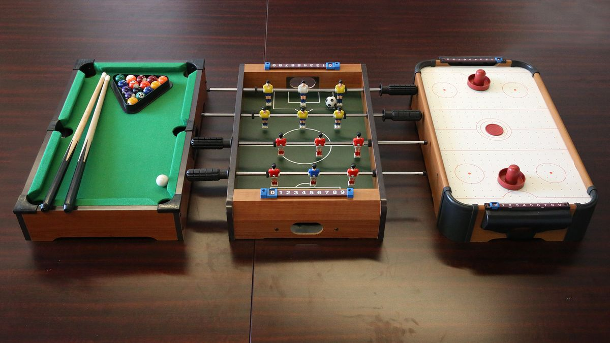 Versatile Game Table Can Be Easily Converted To Play Small, Shitty Version Of Pool, Air Hockey, Foosball trib.al/ONIdEco