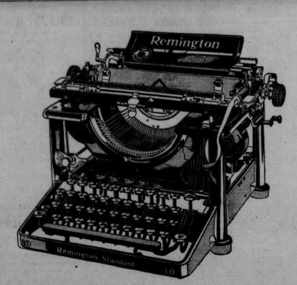 QWERTY? #OTD 1874 Sholes & Glidden typewriter goes on the market. Look for more cool ads in #ChronAm https://t.co/uPri00U4l3 https://t.co/ok2KbRm9CK