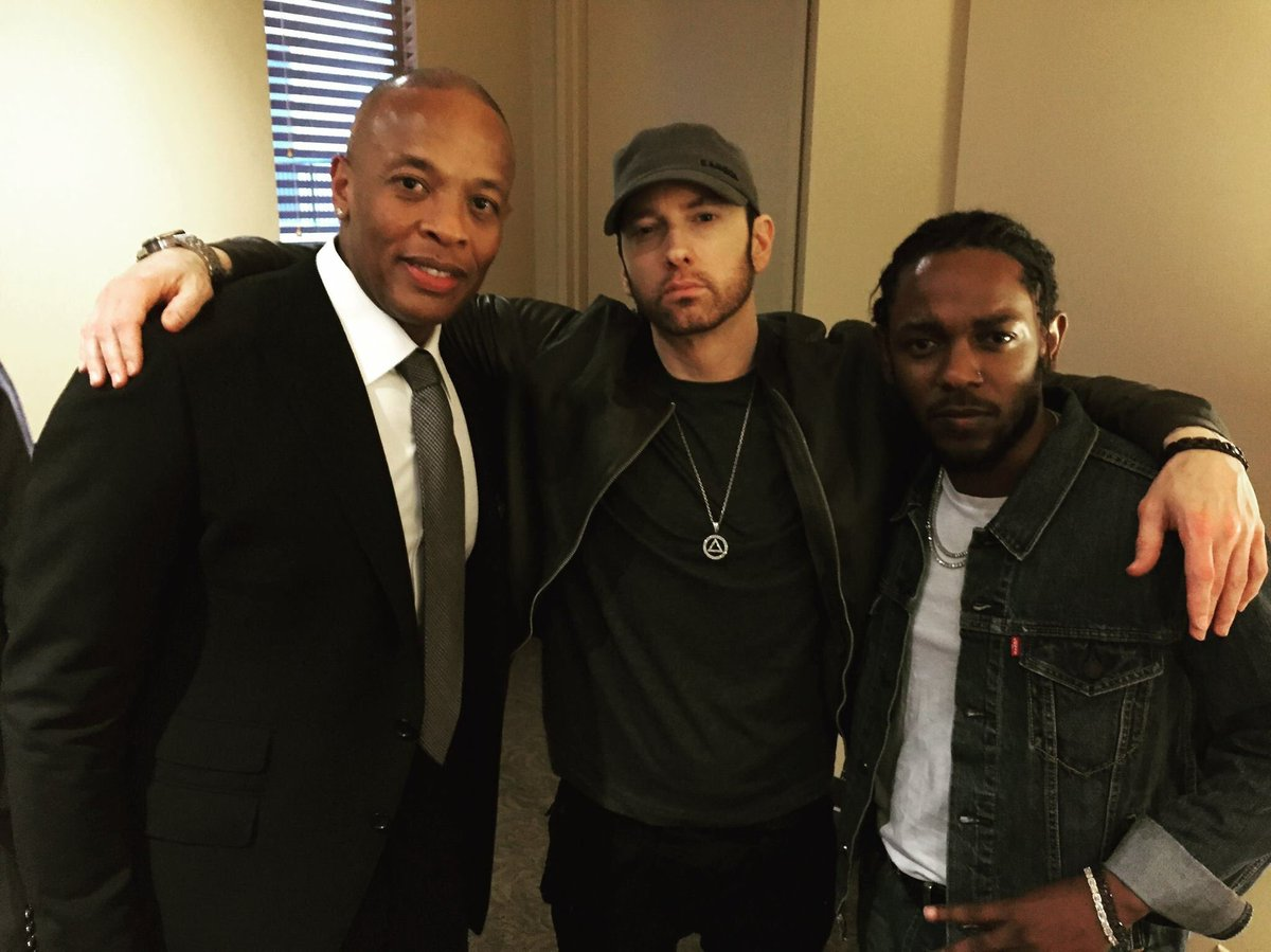 the biggest thing in rap history is on its way #Eminem #dre #kendrick pic.twitter.com/On6EYI34QX