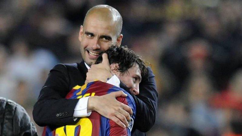 Guardiola: 'Algum dia, contarei aos meus netos que treinei Leo Messi'....