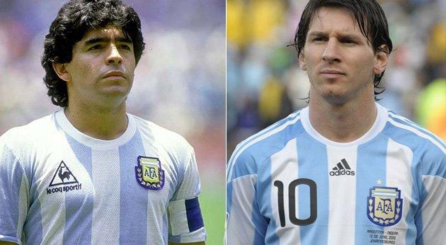Maradona em 2006: 'Eu tenho visto o jogador que vai tomar meu lugar no futebol da Argentina e seu nome é Messi'.  Amanhã Messi faz 30 anos!