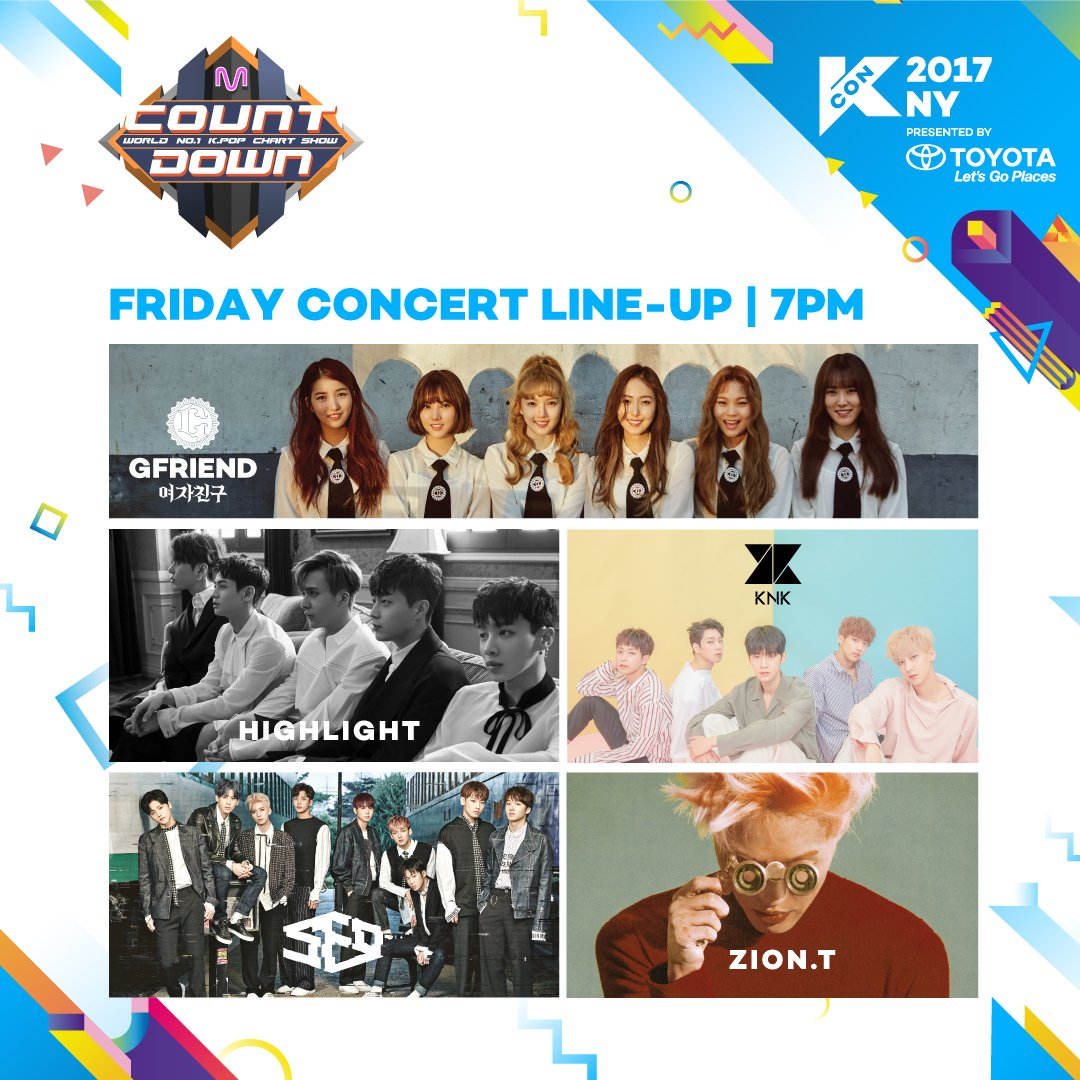 The #KCON17NY MCountdown concert begins at 7PM! If you have floor tick...