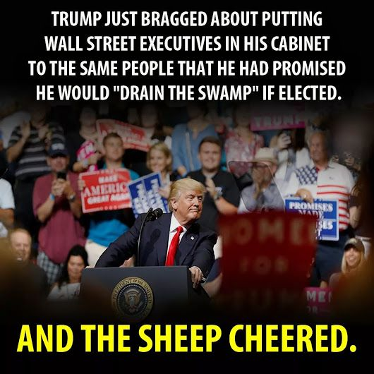 And The Sheep Cheered! #Resist #Resistance #TheResistance #Indivisible #SCROTUS  #MAGA (by Jailing tRump)<br>http://pic.twitter.com/G0H9yJR9Q1