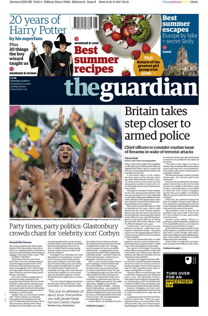 Saturday's Guardian:
