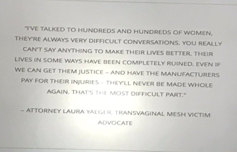 #IUGA2017 The reality of #mesh implants when they go wrong is women&#39;s lives devastated Risks are way too high  http://www. nature.com/nrurol/journal /v12/n9/abs/nrurol.2015.183.html &nbsp; … <br>http://pic.twitter.com/E84vwJXQOz