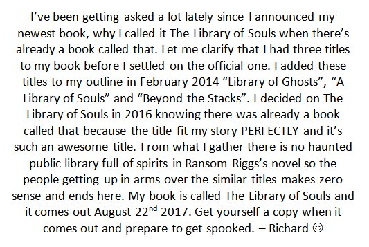 Time to clear this up. #booktube #TLOSBook<br>http://pic.twitter.com/rQC5lcyY8M