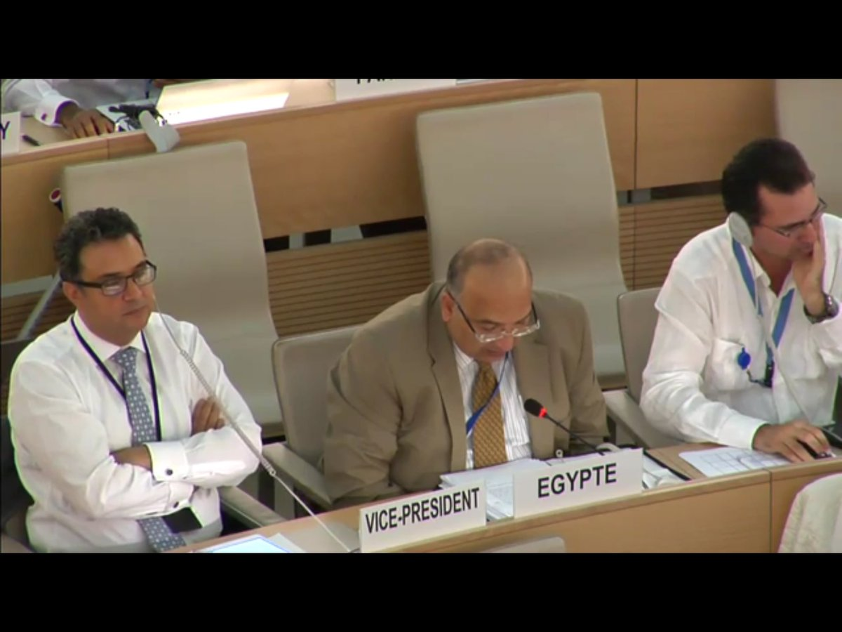 #Egypt strongly rejected resolution on #Eritrea @UN_HRC,as politicization of regional/bilateral conflicts targeting against specific country<br>http://pic.twitter.com/YazxvHwF1T