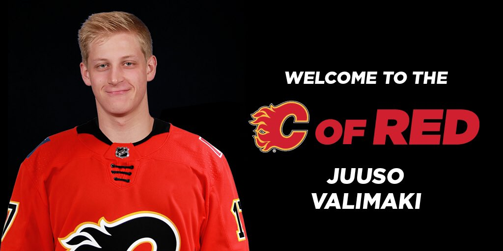 With the 16th pick, the #Flames have selected Juuso Valimaki! https://...
