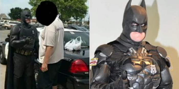Não é piada! Policial fantasiado de Batman prende suspeito de roubar loja https://t.co/cAk6KgQuL5 #HojeEmDia