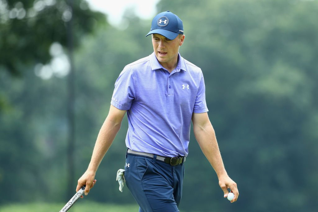 Jordan Spieth leads by one shot after the second round of the Travelers Championship in Connecticut.  https://t.co/OrM98g1lxw