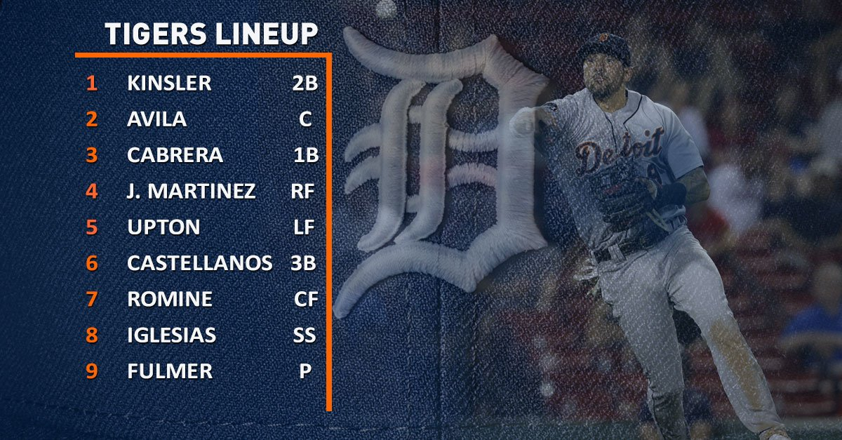 #Tigers lineup vs. the Padres: https://t.co/06T4C9kyGG