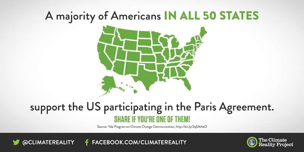 In every single state, most Americans support the US participating in the #ParisAgreement. Retweet if you're one of them! <br>http://pic.twitter.com/X25wf7rn8P