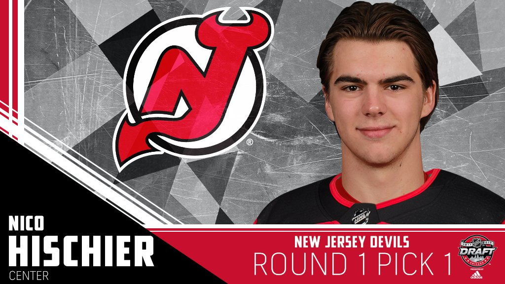 The @NJDevils select @nicohischier with the No. 1 pick! #NHLDraft http...