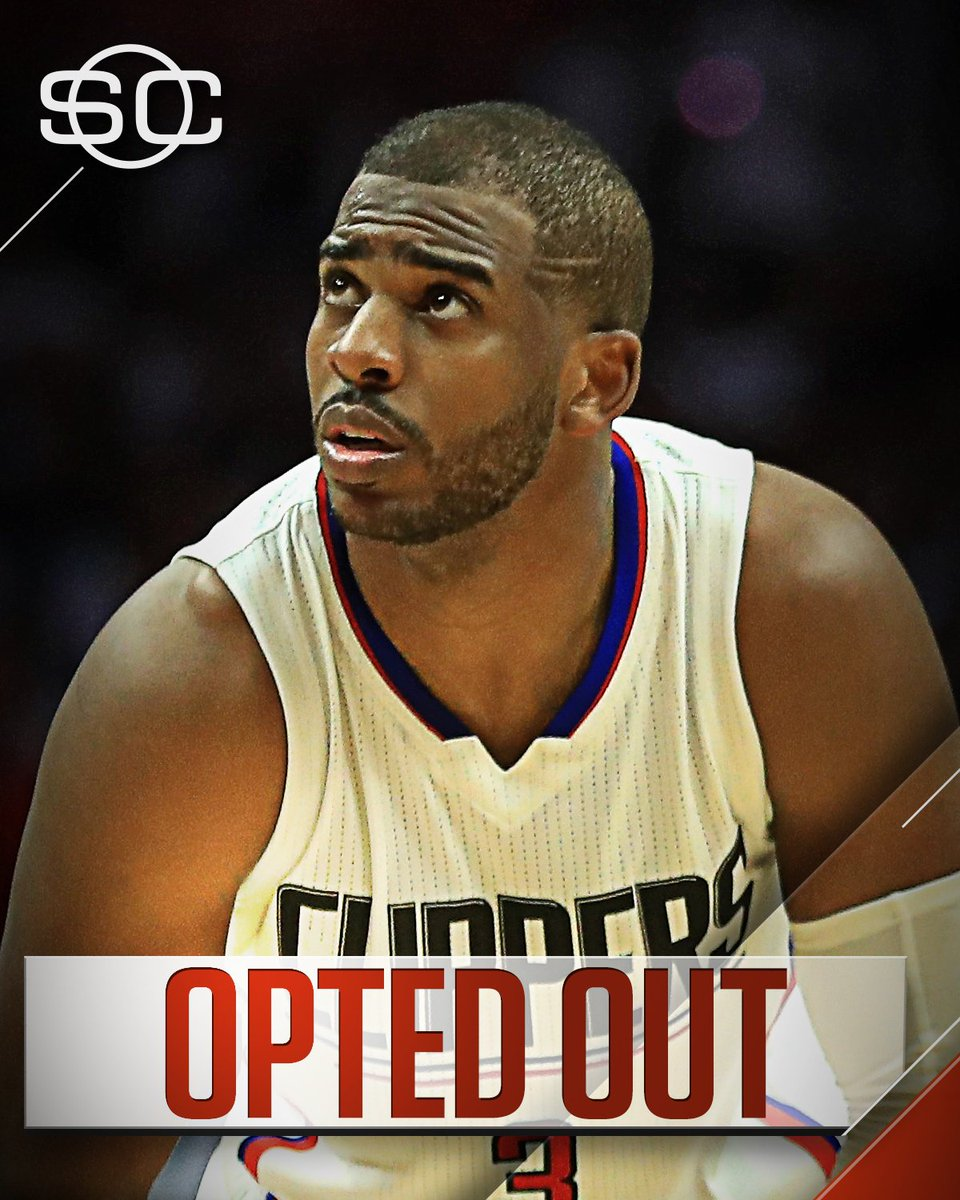 Update: Chris Paul has informed the Clippers that he is opting out of his contract and will become a free agent.