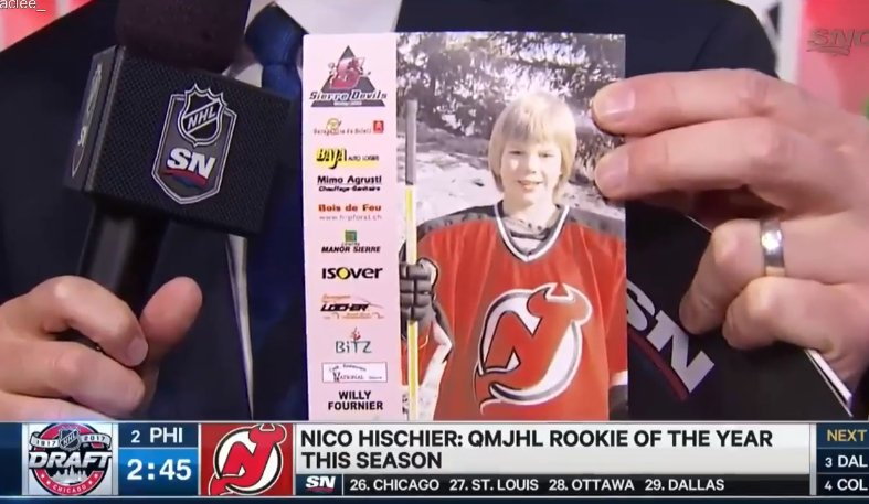 Nico Hischier was destined to be a Devil. https://t.co/SEch1BesUJ