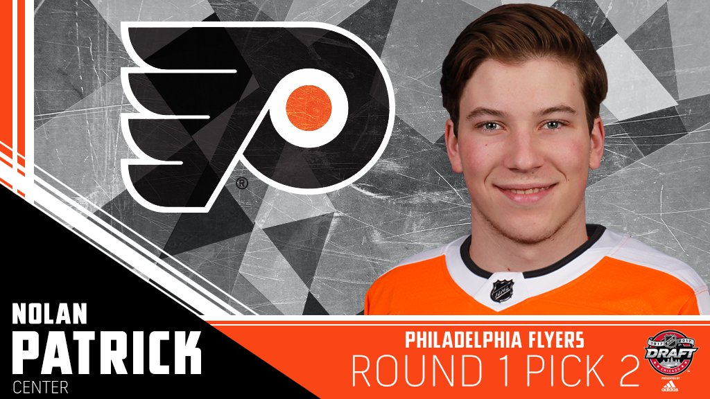 The @NHLFlyers have their man at No. 2: @nolan_patrick19. #NHLDraft ht...