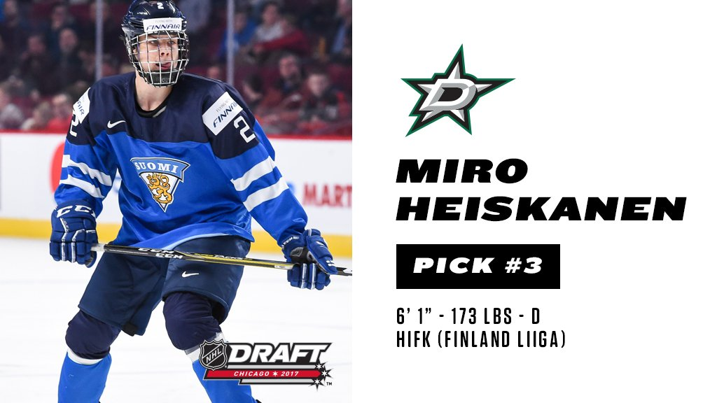 Welcome to Dallas, Miro Heiskanen! #NHLDraft https://t.co/uKGqeaAM7D