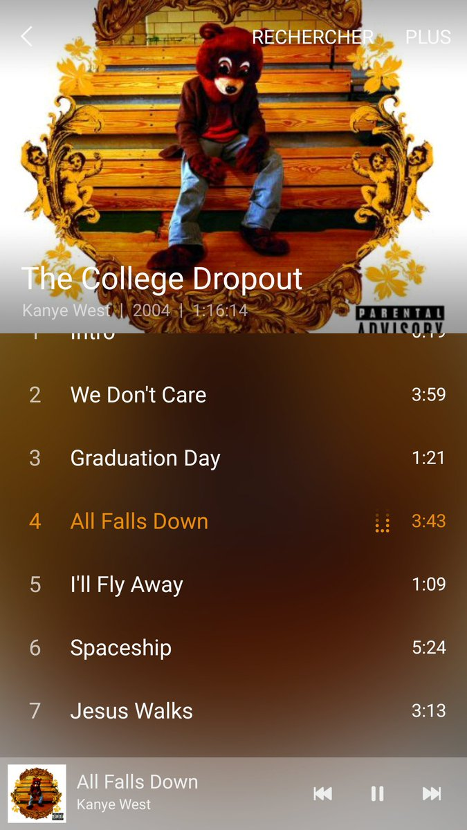&quot;Devil in the new dress&quot; &amp; &quot;runaway&quot; are the masterpieces. College drop out is kanye best album for sure. #MonAvis <br>http://pic.twitter.com/PrLrPWWjrb
