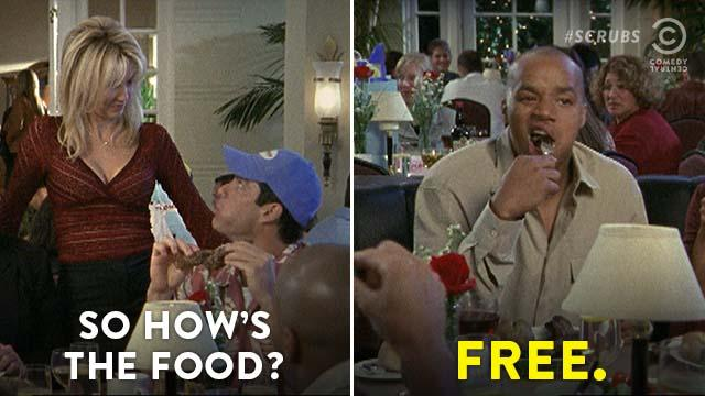 #Scrubs is now on every weekday starting at 7a/6c. Bon appetit. https:...
