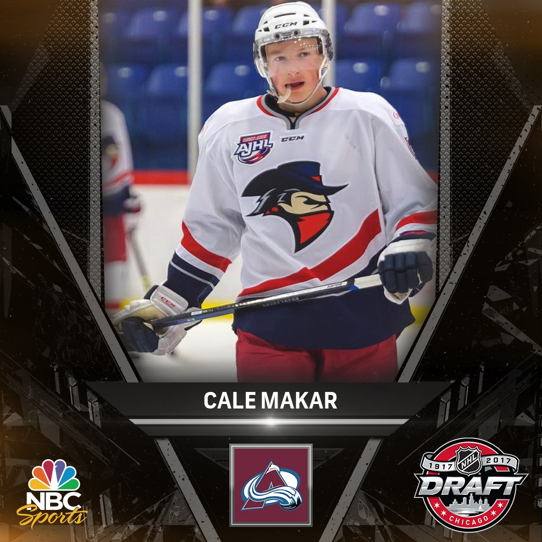 Cale Makar is headed to the @Avalanche, who have selected him #4 overa...