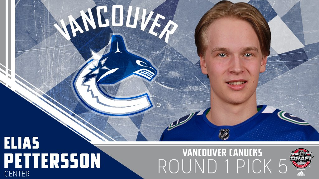 The @Canucks go with a big center at No. 5, Elias Pettersson. #NHLDraf...