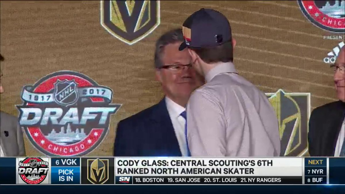 Cody Glass is the first NHL entry draft pick to pull on the Golden Kni...