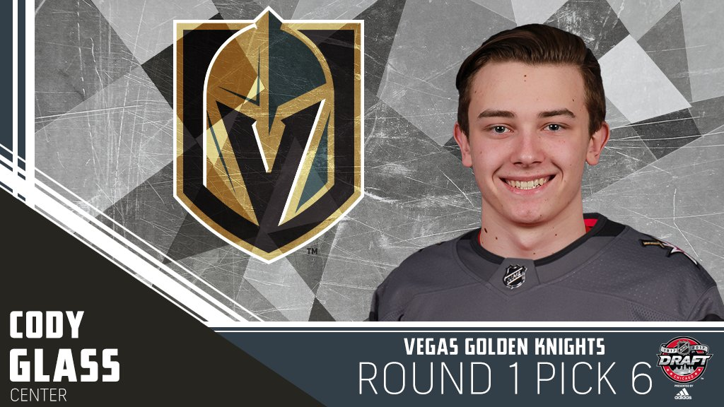 The first ever @GoldenKnights selection in the #NHLDraft is @Cody12Gla...