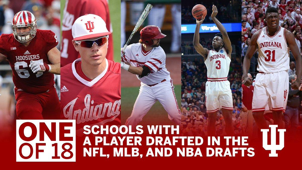 NFL Draft ✓ MLB Draft ✓ NBA Draft ✓  ⚪️🔴#ProIU https://t.co/GmXs2dT3bl