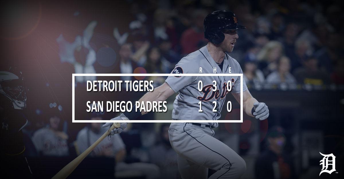 #Tigers drop Game 1 of series vs. Padres  RECAP ➡️ https://t.co/x7svqx...