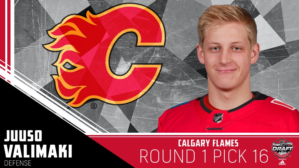 The @NHLFlames are on the board with Juuso Valimaki at No. 16. #NHLDra...