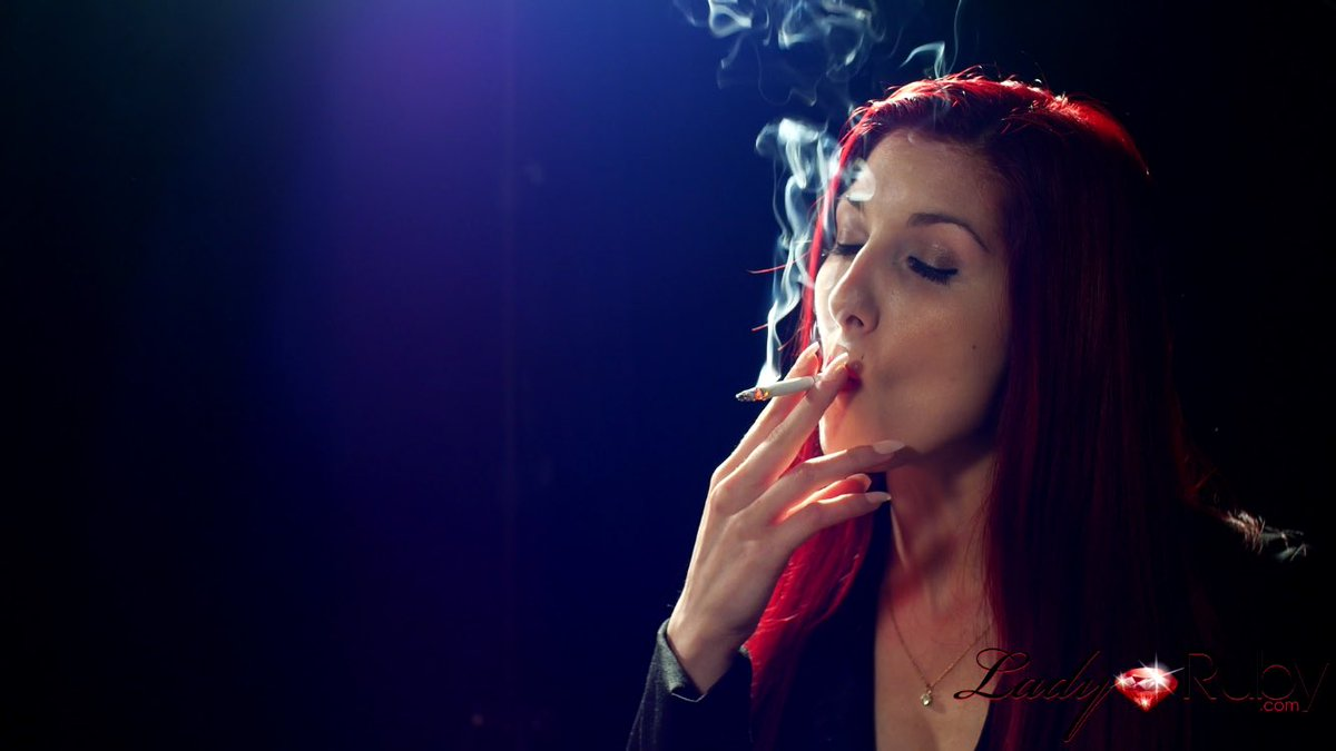Smoking fetish blue excellent