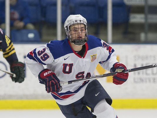 With the 19th overall pick, the San Jose #Sharks select: C Josh Norris...