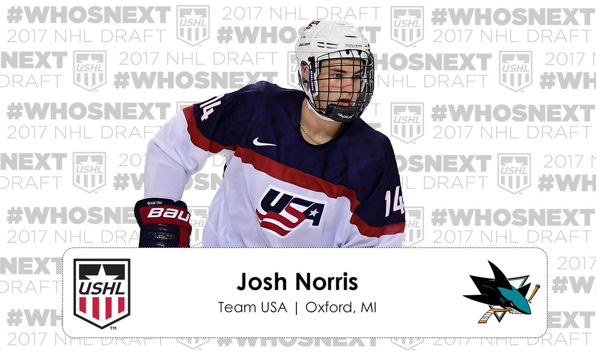 #NHLDraft | The @SanJoseSharks select Josh Norris 19th overall! https:...