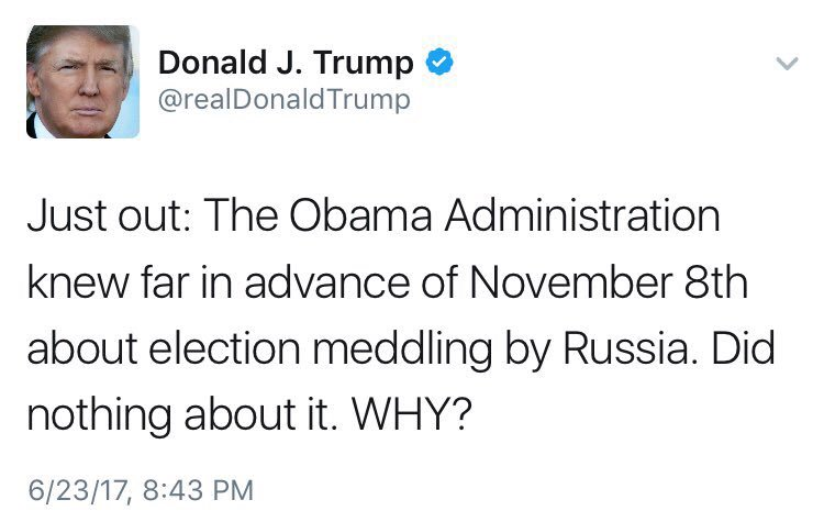 FYI: This isn't the first time Trump acknowledged Russia meddled in the election. He did it in January, then went back to questioning it