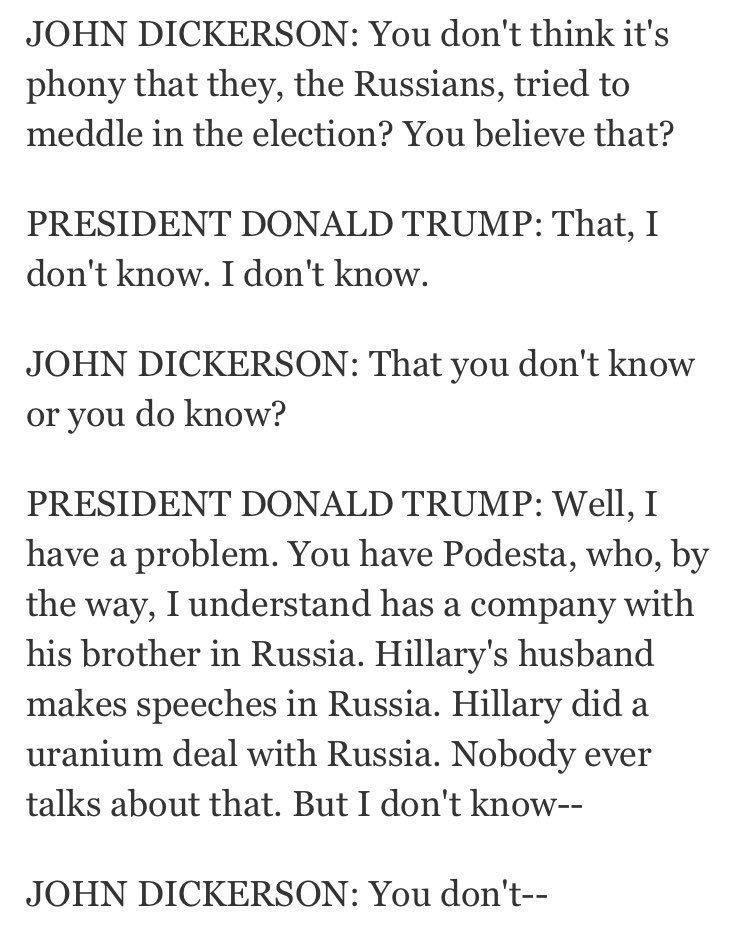 Here's Trump in January, 9 days before inauguration, saying it was Russia   Here's Trump in April, on Day 100 in office, changing his mind
