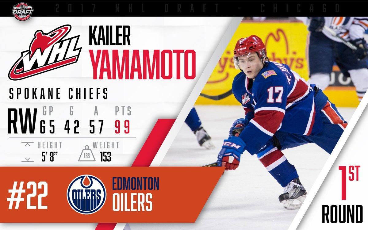 Congratulations to @spokanechiefs forward @kailer_yamamoto, selected 2...